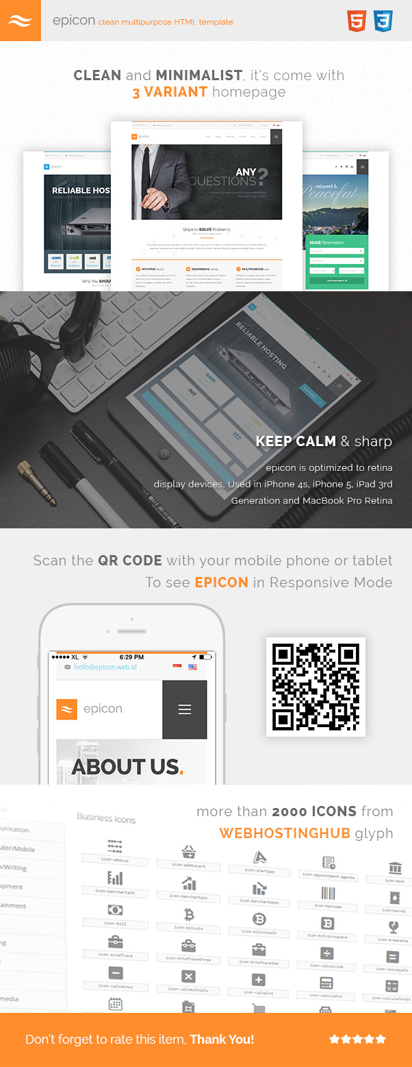 Epicon - Clean Multipurpose HTML Template