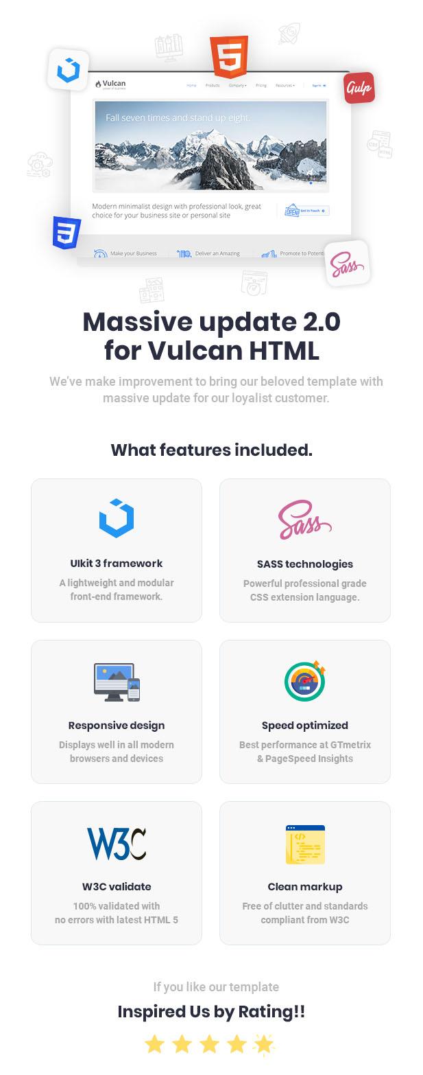 Vulcan - Minimalist Business HTML Template - 1