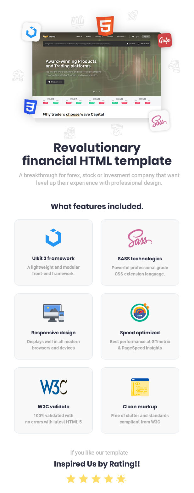 Wave - Finance and Investment HTML Template - 1
