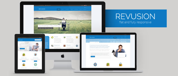 Revusion - Flat Corporate WordPress Theme